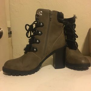 Fuzzy army boots